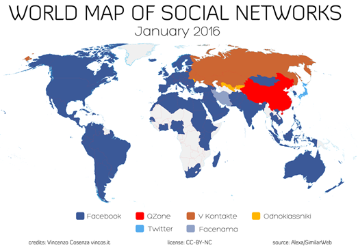Most popular messaging apps and the world map of social networks the world map of social networks gumiabroncs Choice Image